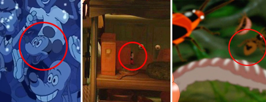 Головоломка от Диснея: найди Микки Мауса (17 картинок)