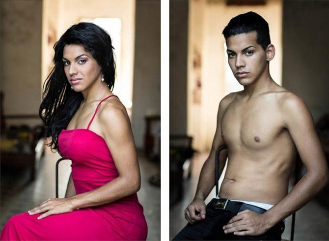 Кубинские транссексуалы — до и после смены пола (13 фото)
