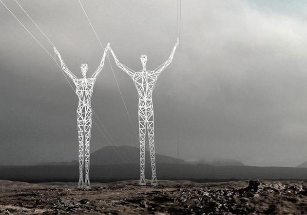 Электрические гиганты Исландии (5 фото)