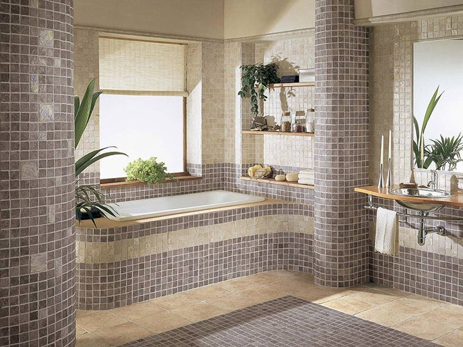 Красивые интерьеры ванных комнат (35 фото)