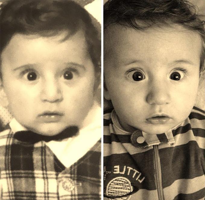 Мощь генов. Насколько дети могут быть похожи на родителей (38 фото)