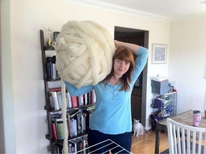 Как связать огромный плед самому (14 фото)