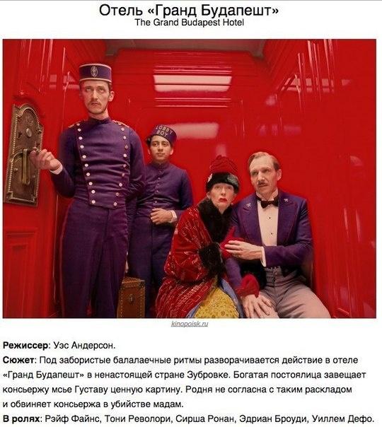 Претенденты на Оскар 2015 года