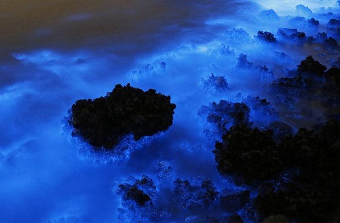 Редкое природное явление в Южно-Китайском море (4 фото)