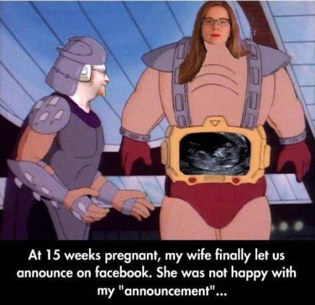 20 способов рассказать окружающим о своей беременности (20 фото)