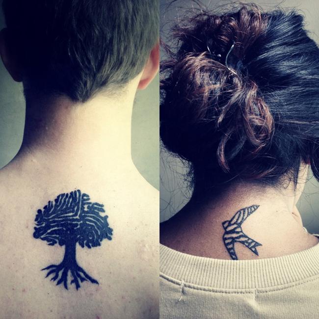Татуированные пары (23 фото)