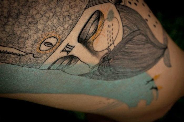 Кубизм в татуировке (20 фото)