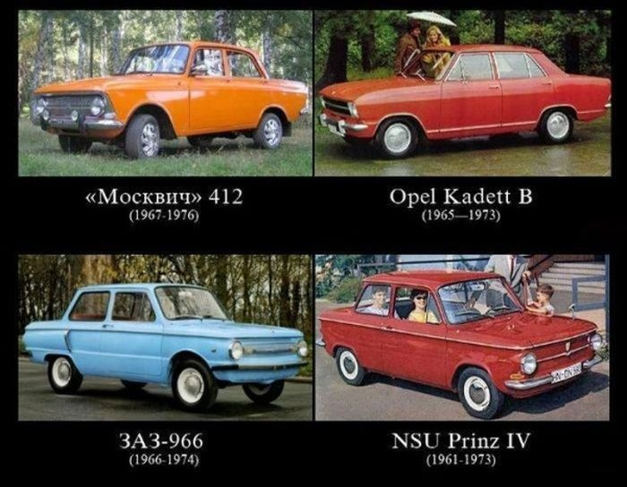 Иностранные прототипы советских машин