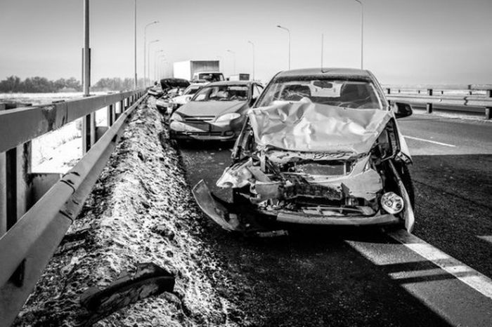ДТП недалеко от Жуковского - пострадали 78 машин (13 фото и видео)