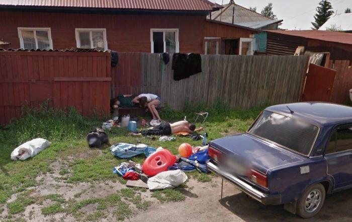 Что увидел Google Street View в городе Новоалтайске (4 фото)