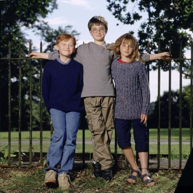 """Редкие фото героев """"Гарри Поттера"""" (7 фото)"""