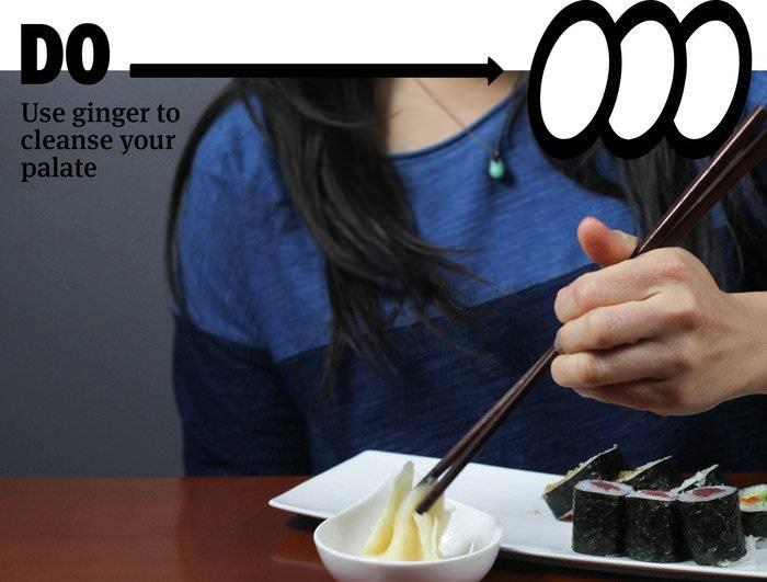 Главные правила поедания суши