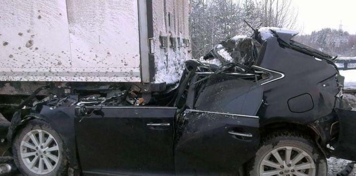 Жуткое ДТП с выжившим водителем