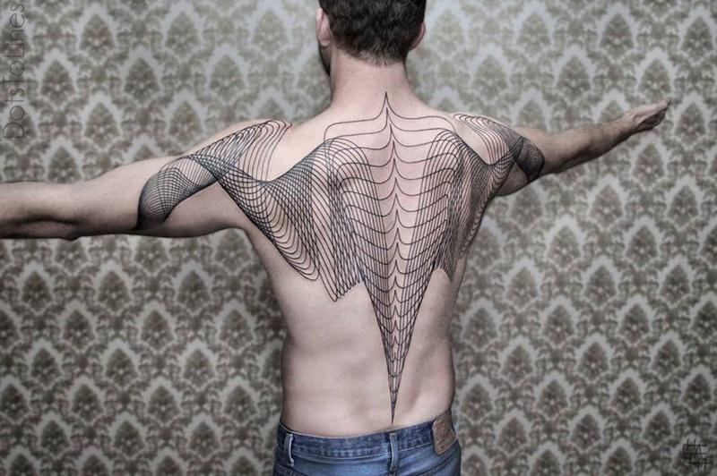 Геометрически правильные татуировки, сделанные бывшим программистом (19 фото)
