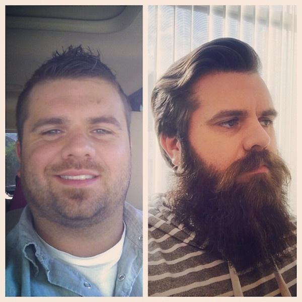 Без бороды и с бородой (15 фото)