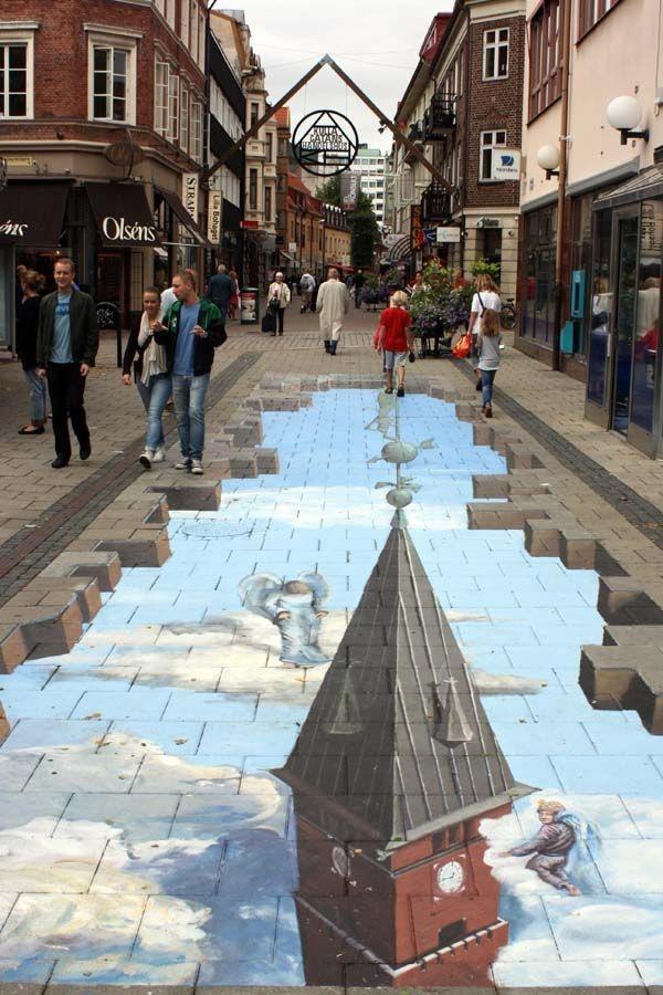 Прикольные уличные 3D-рисунки (38 фото)