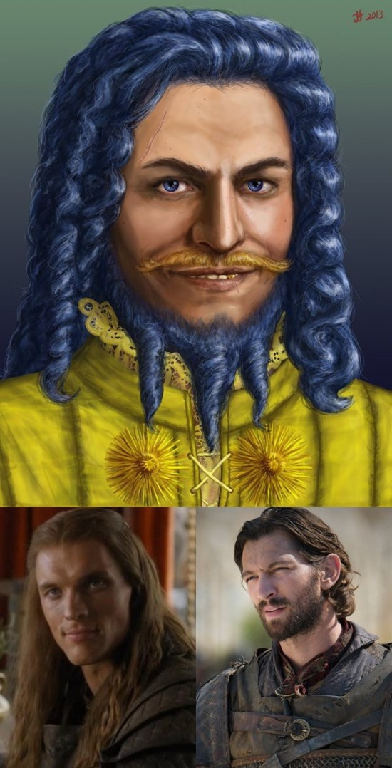 """Сравнение внешнего облика персонажей """"Игры престолов"""" в сериале и книге"""