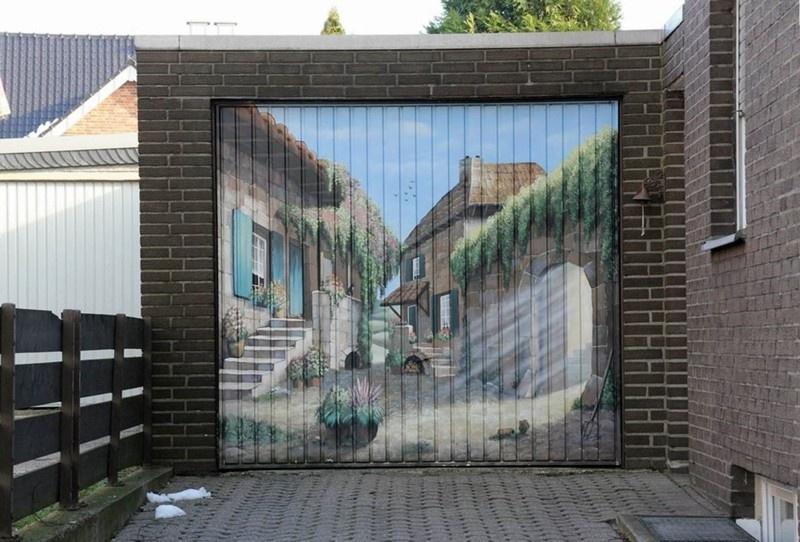 Рисунки на гаражных воротах (31 фото)