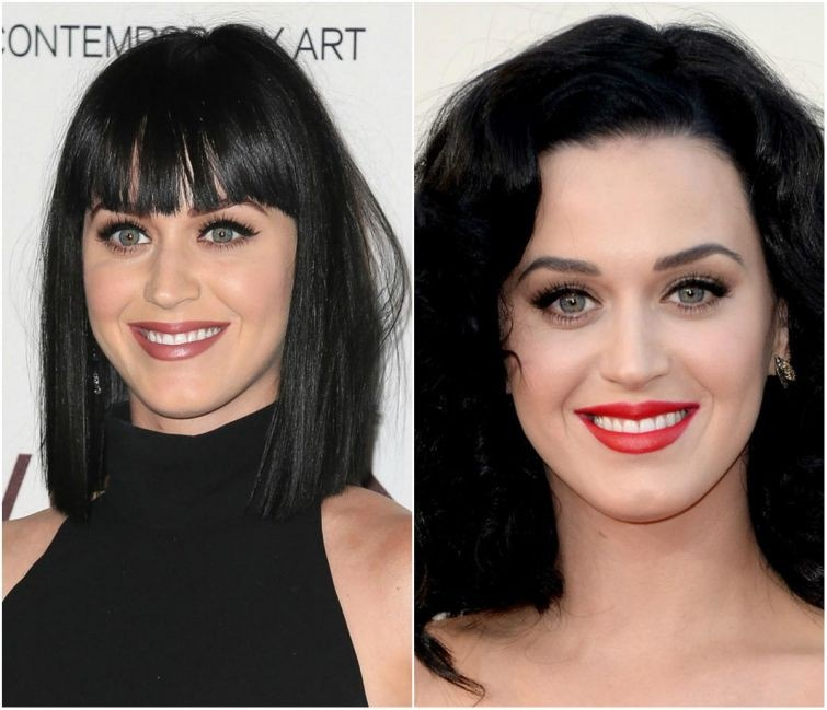 Примеры того, насколько сильно челка может изменить внешность женщины (25 фото)