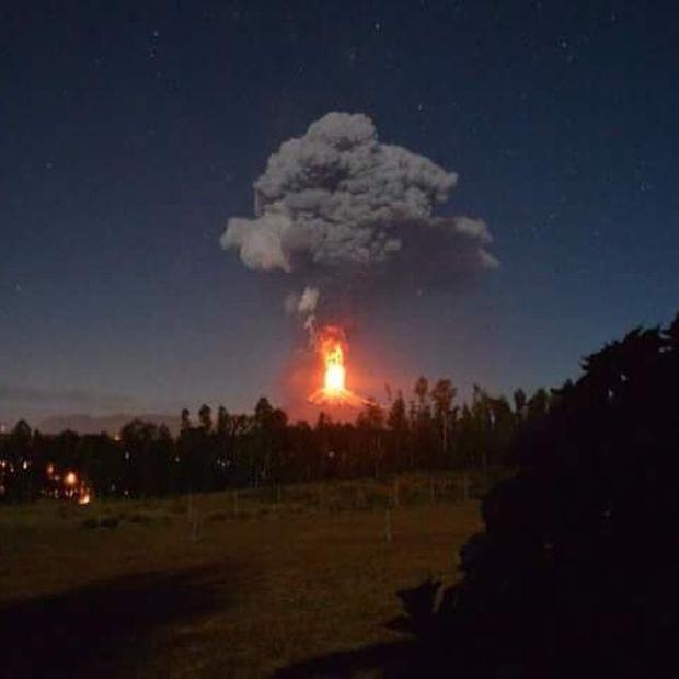 Извержение вулкана в Чили (15 фото)