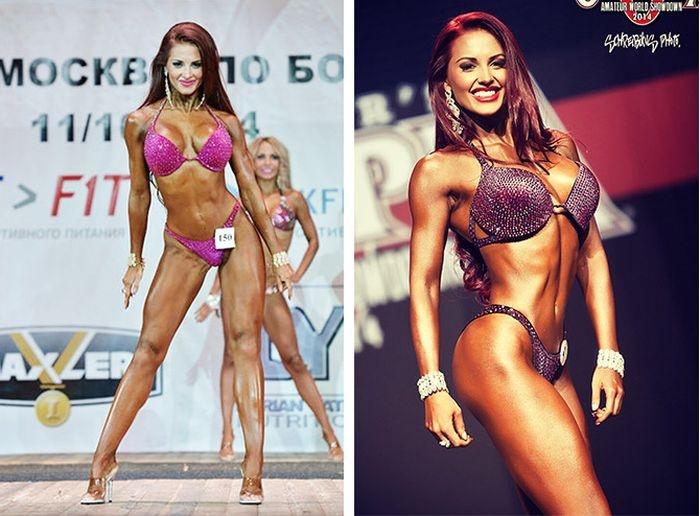 Неоднократная победительница соревнований в категории фитнес-бикини снялась для журнала Maxim