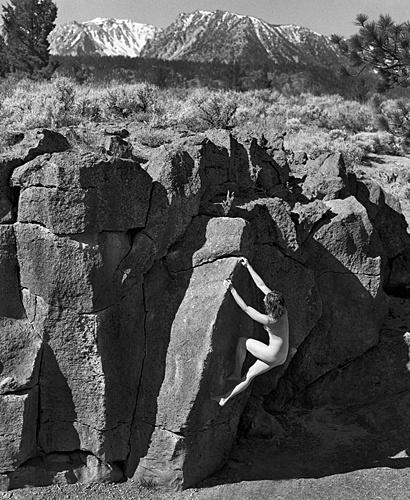 Обнаженные любительницы скалолазания