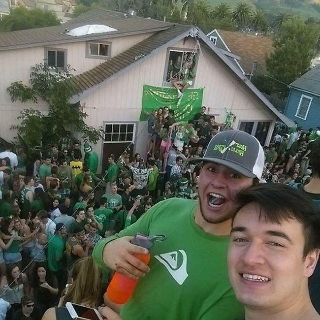 Неудачный итог студенческой вечеринки (5 фото и видео)