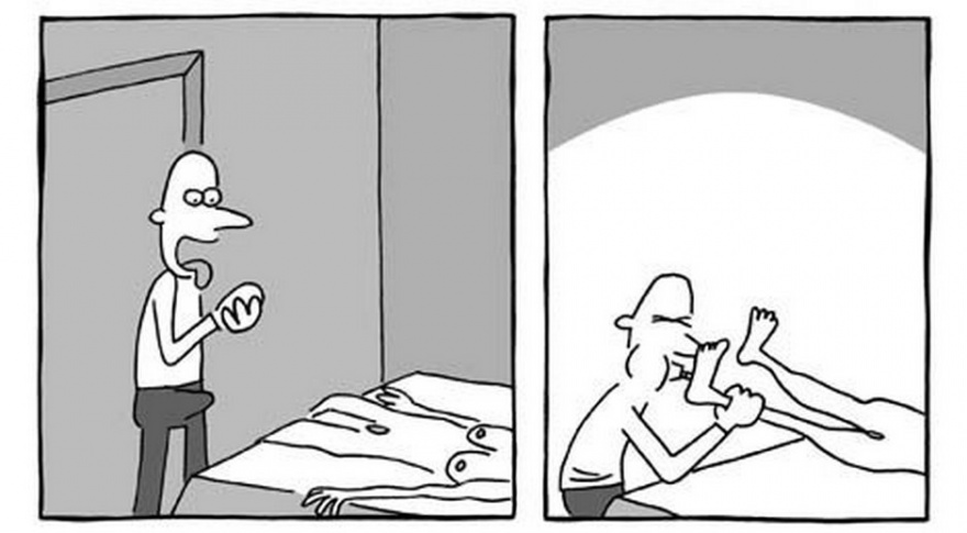 Комикс про куклу (6 картинок)
