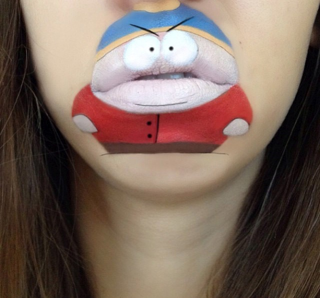 Рисунки на губах (40 фото)