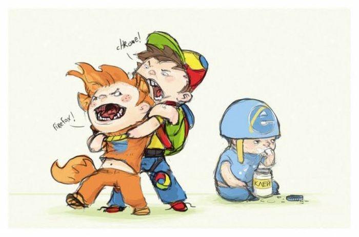 Подборка комиксов об Internet Explorer (20 фото)