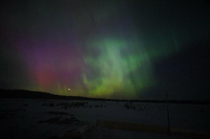 Северное сияние в различных областях России(19 фото)