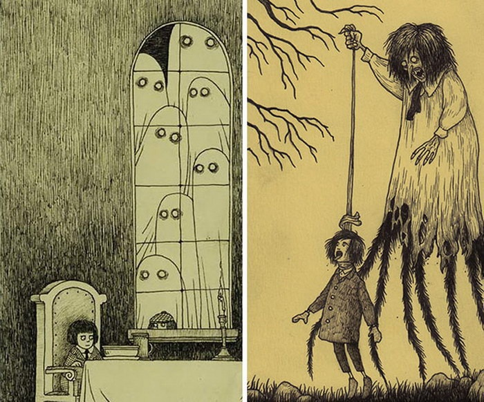 Детские страшилки от Джона Мортенсена (25 картинок)
