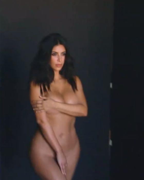 Обнаженная фотосессия Ким Кардашьян перед беременностью (6 фото)