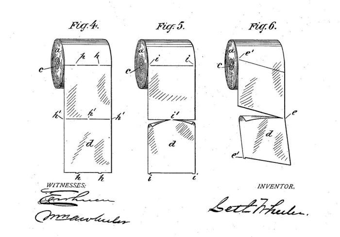 Патент на отрывной рулон туалетной бумаги
