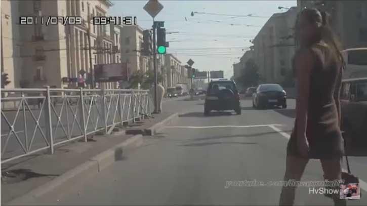 Видео с хладнокровными пешеходами
