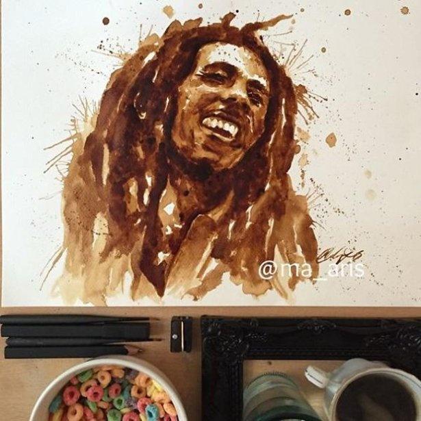 Классные картины из кофейной гущи (22 фото)