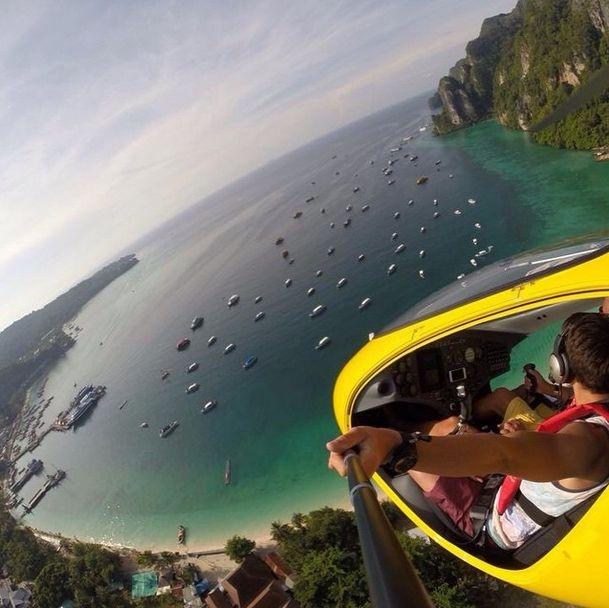 Красивые селфи путешественников (33 фото)