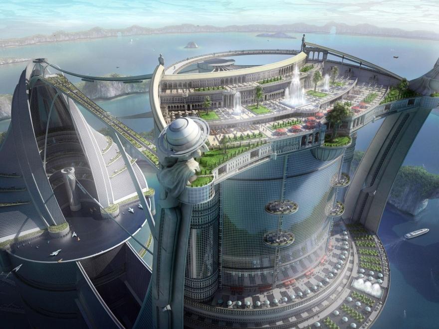 Города будущего глазами различных художников (20 фото)