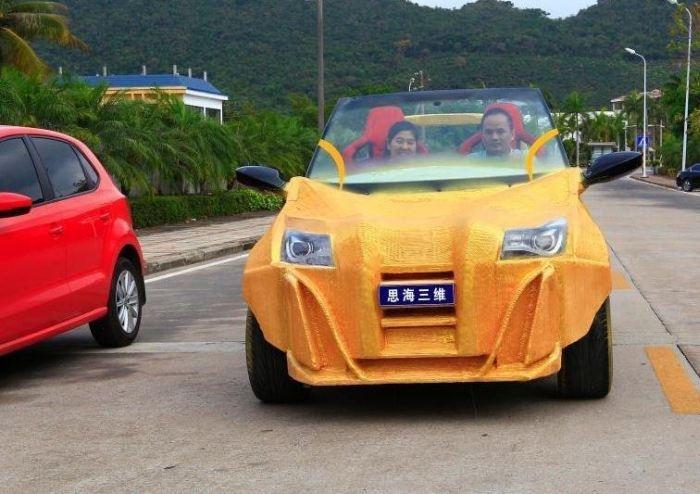 Первый китайский электромобиль, распечатанный на 3D-принтере (5 фото)