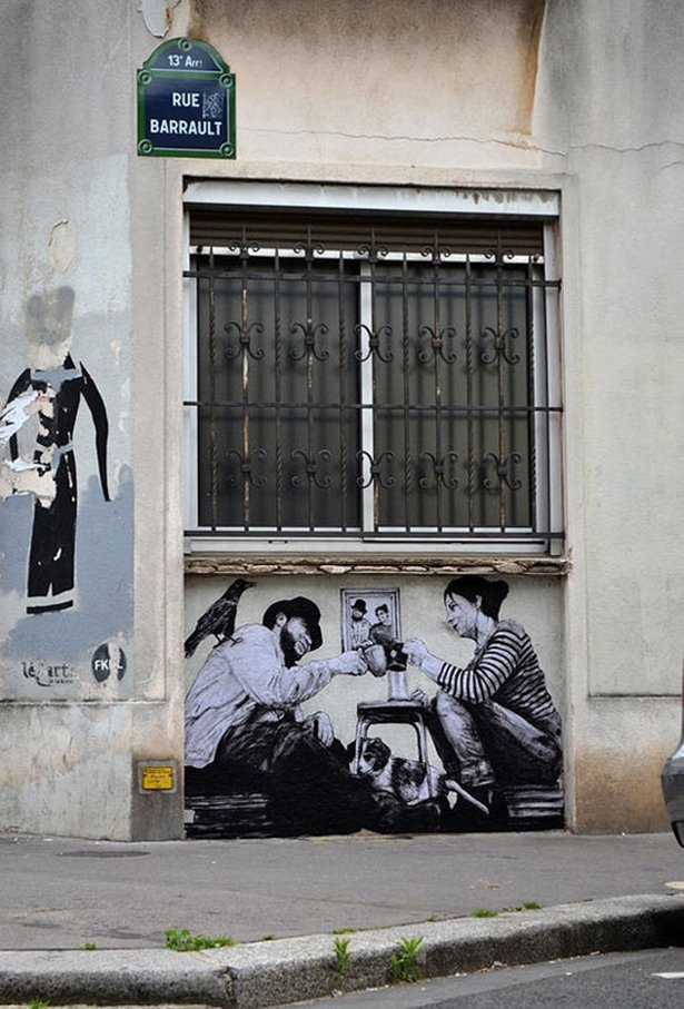Парижский стрит-арт от Чарльза Лаваля (30 фото)