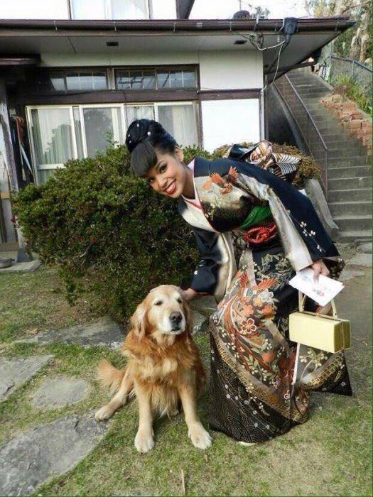 В Японии победительницей национального конкурса красоты стала дочь афроамериканца (13 фото)