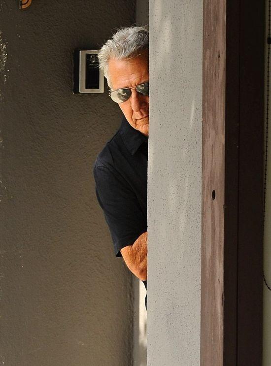 Как прятался от папарацци Дастин Хоффман (5 фото)