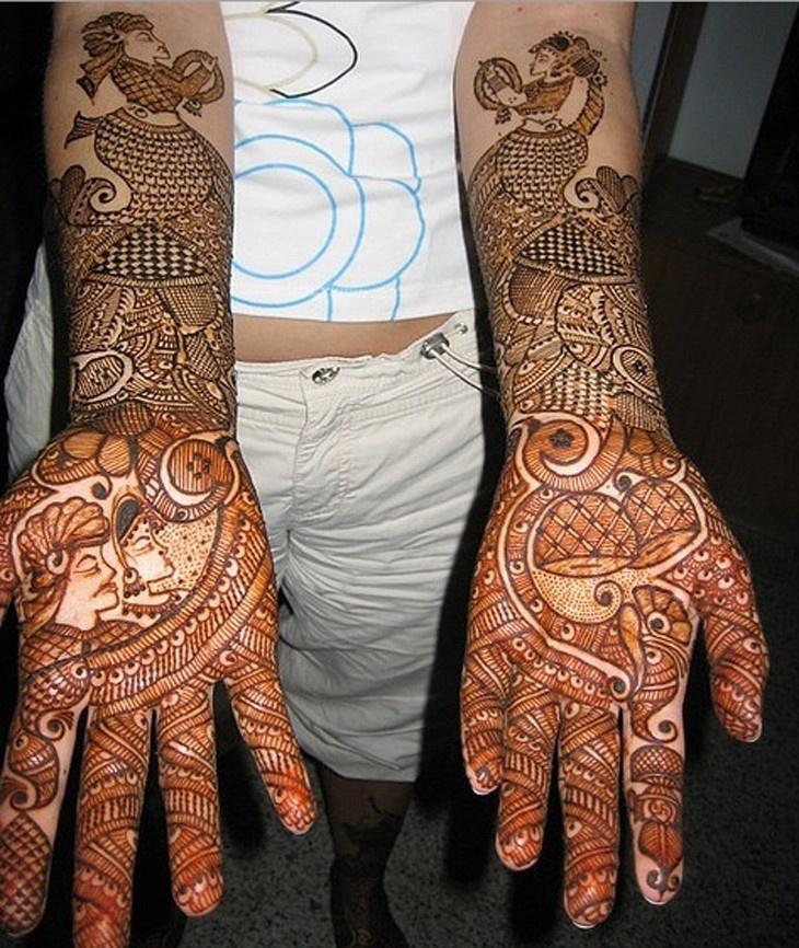 Мехенди - искусство росписи по телу (45 фото)