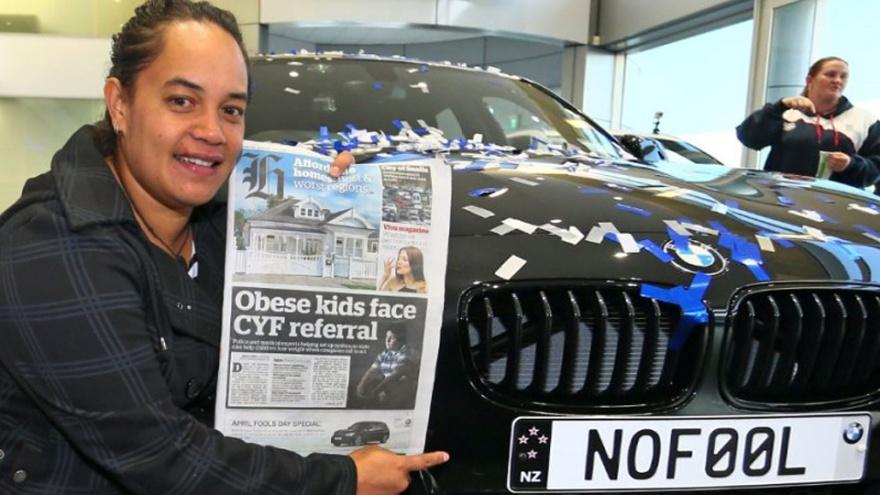 Новозеландка получила новый BMW, откликнувшись на первоапрельское объявление (3 фото)