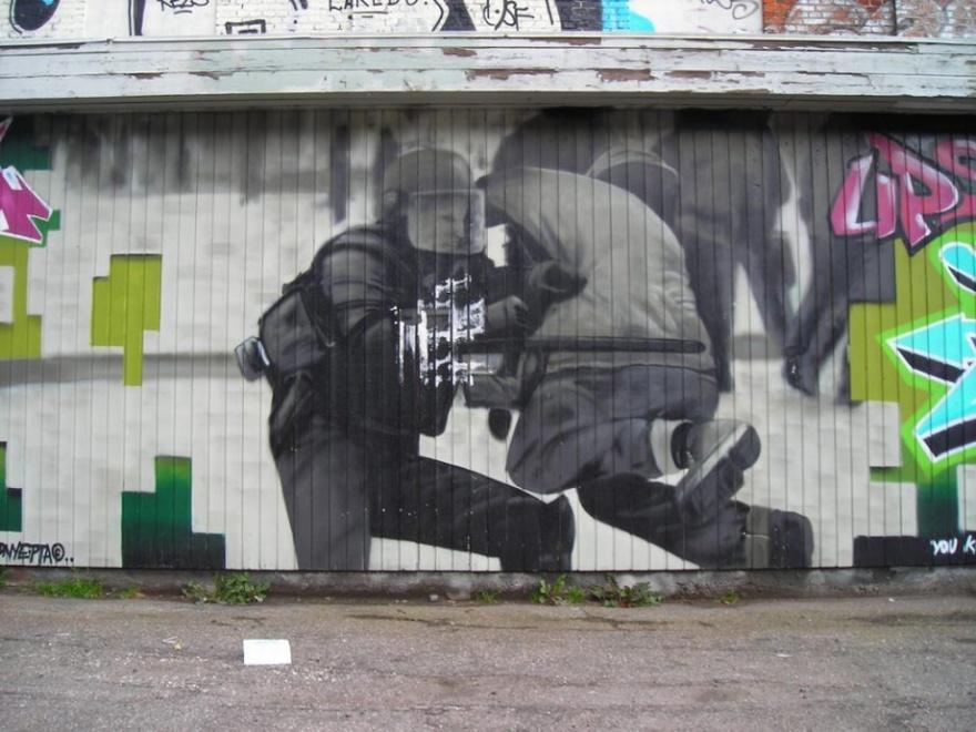 Прикольный стрит-арт (18 фото)