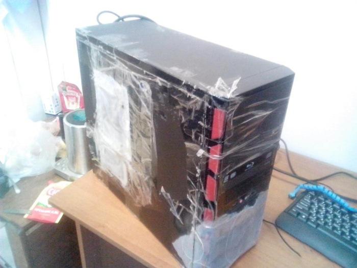 Неожиданная находка внутри ремонтируемого системного блока (7 фото)