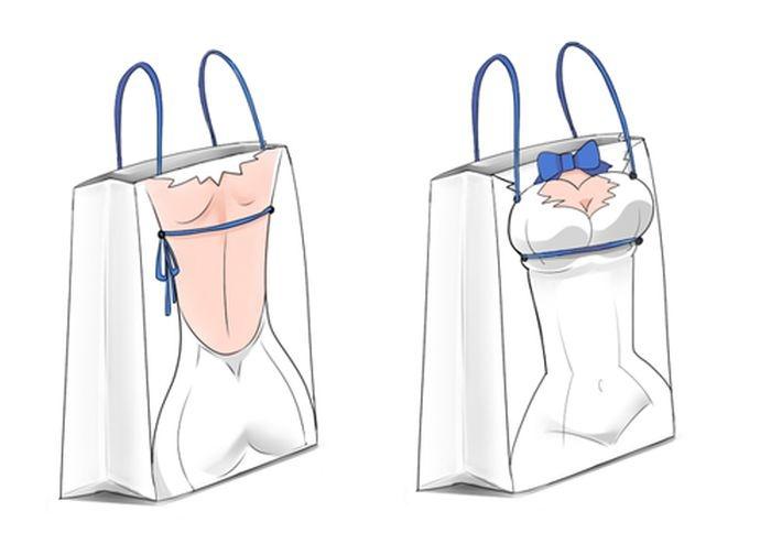 Ленточка под грудью - новый способ японских девушек привлечь к себе внимание (15 фото)