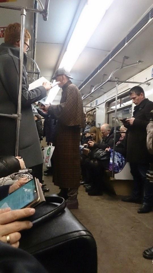 Необычные пассажиры метро 21.04.2015 (32 фото)