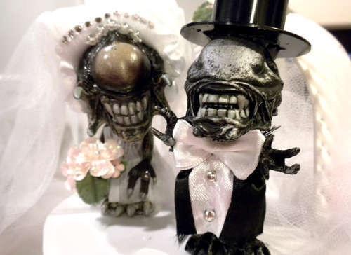 Прикольные свадебные торты (18 фото)