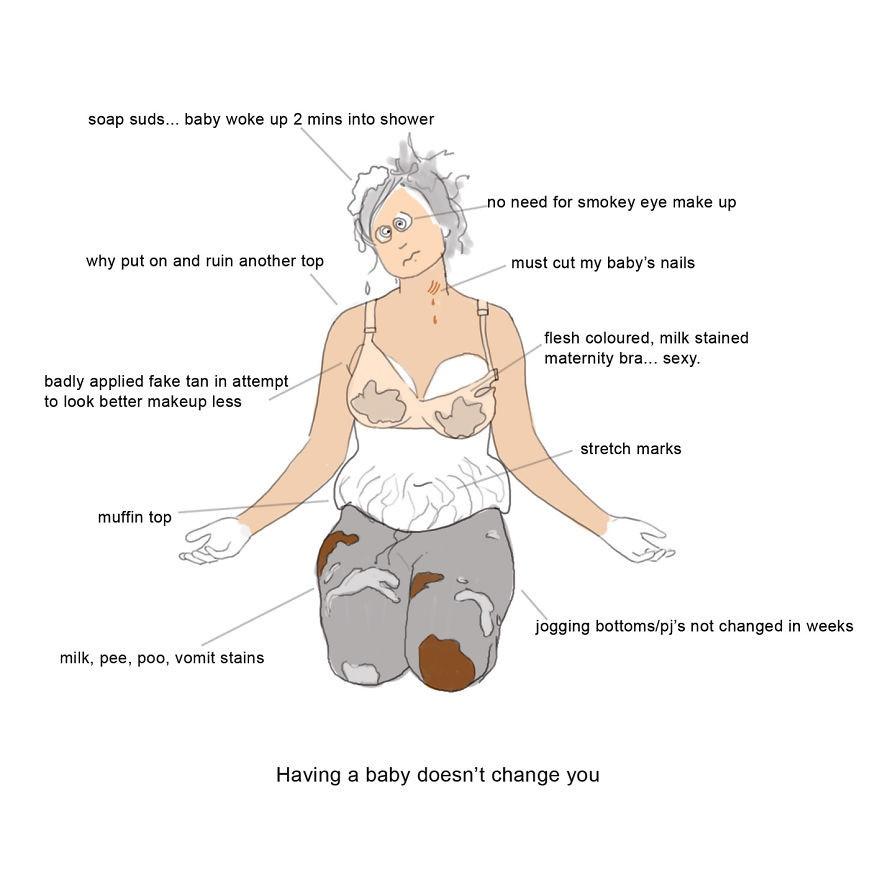 Жизнь молодой матери в картинках (15 картинок)
